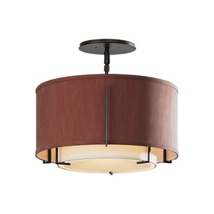 Hubbardton Forge Exos Double Shade 1-Light Semi Flush Mount