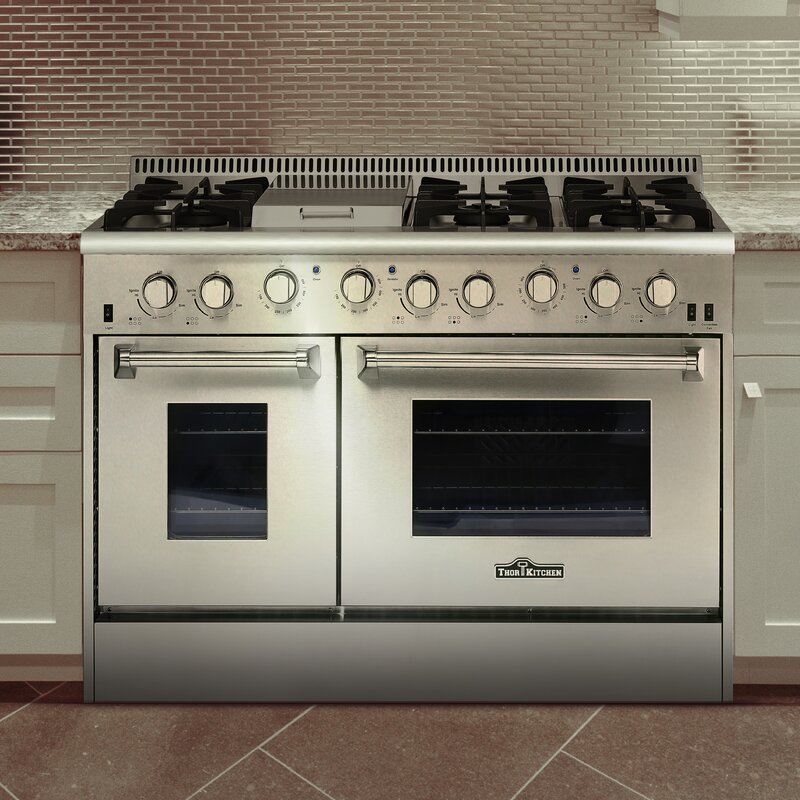 Professional 48 Free Standing Natural Gas Range With Griddle