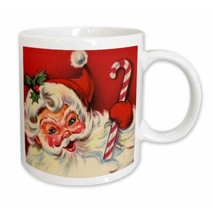 Santa and the Candy Cane Coffee Mug