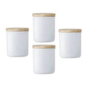 Ceramic Food Spice 0.9 qt. Kitchen Canister (Set of 4)