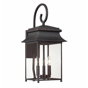 Hartzell Scroll 3-Light Outdoor Wall Lantern