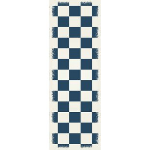 Case Checker Blue/White Indoor/Outdoor Area Rug