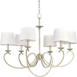 Alcott Hill Harriss 6-Light Shaded Chandelier