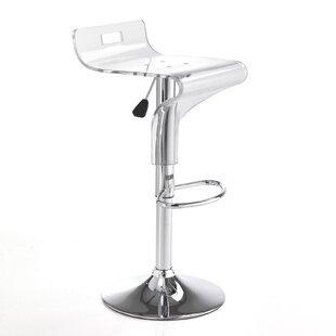 Plympt Height Adjustable Bar Stool (Set Of 2) By Mercury Row