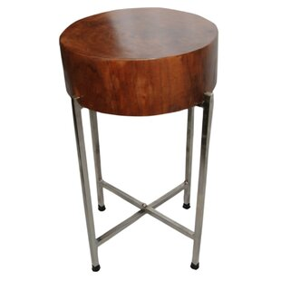 Sura Wood Block End Table by Foreign Affairs Home Decor