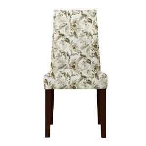 Haddonfield Green/Beige Parsons Chair (Set of 2) by Latitude Run