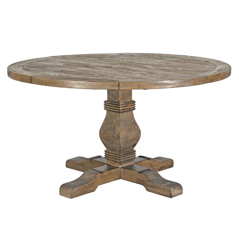 Rustic Round Farmhouse Dining Table #farmhousetable #farmtable #pedestaltable