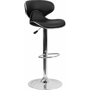 Whelan Mid Back Curved Adjustable Height Swivel Bar Stool