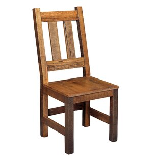 Rabon Solid Wood Dining Chair Loon Peak