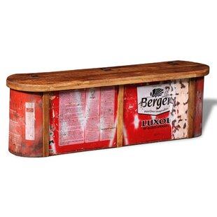 Williston Forge Wood Storage Bench