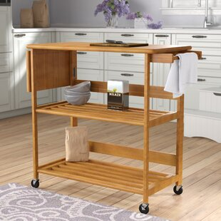 Quiroga Kitchen Island with Wood Top Andover Mills