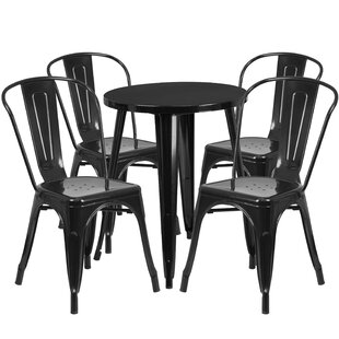 Aragon Metal Indoor/Outdoor 5 Piece Dining Set