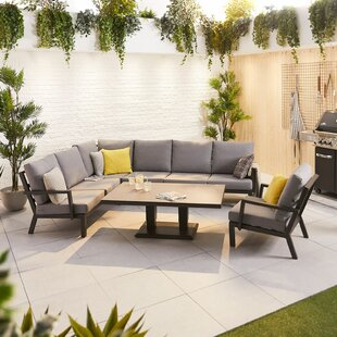 Neco 7 Seater Corner Sofa Set By Sol 72 Outdoor