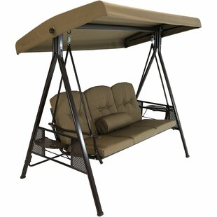Stoner Outdoor Canopy Porch Swing with Stand