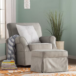 Antonia Swivel Glider and Ottoman By Viv + Rae