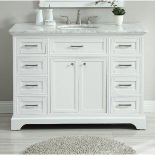 Single White Bathroom Vanities Youu0027ll Love | Wayfair