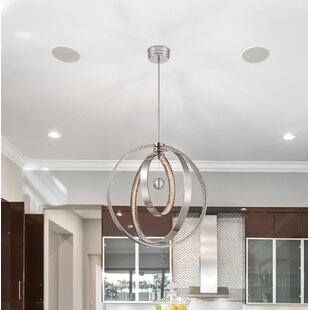 Winter Solstice 2-Light LED Globe Chandelier by Metropolitan by Minka