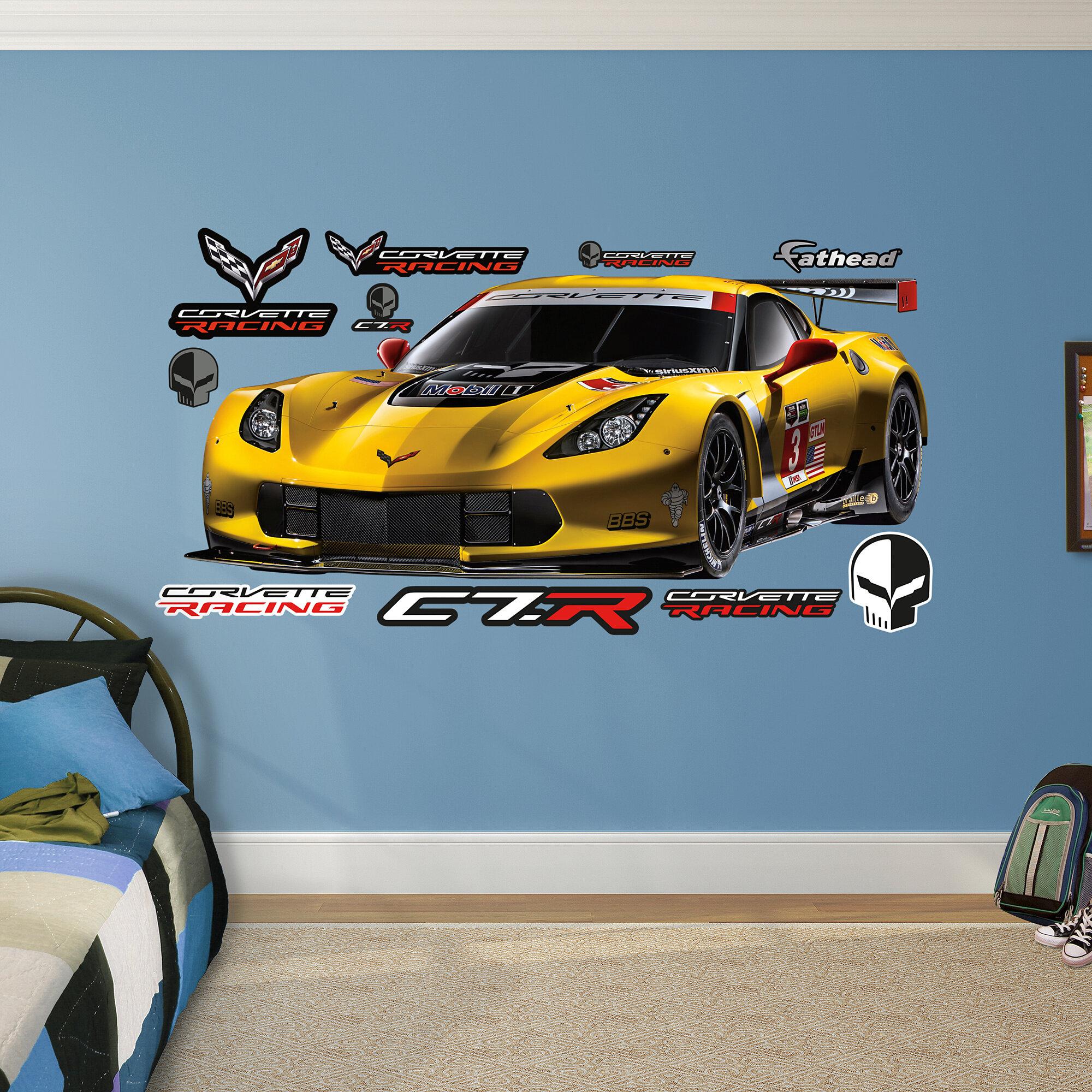 Corvette Sting Ray Framed Tile Ceramic Wall Art Home Decor