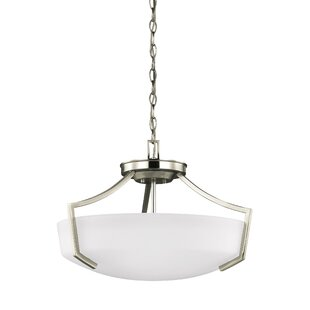 Elkton 3-Light Bowl Pendant by Darby Home Co