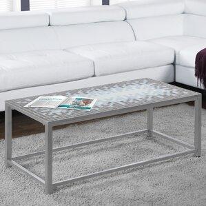 metal tile coffee tables you'll love | wayfair
