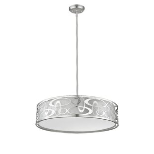 Orren Ellis Fugate 5-Light Drum Pendant