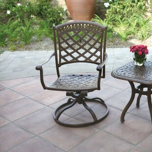 Lenahan Swivel Patio Dining Chair with Cushion