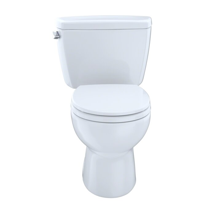 Toto Drake 1.6 GPF Round Two-Piece Toilet (Seat Not Included ...