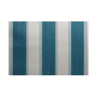 Addyson Stripe Print Teal Indoor/Outdoor Area Rug