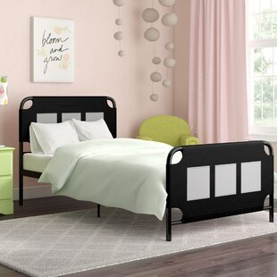 Jefferson Place Metal Twin Platform Bed with Storage Pockets by Zoomie Kids