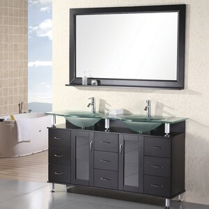 Mateo 61 Double Bathroom Vanity Set with Mirror