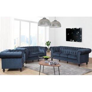 Rosdorf Park Jovani 3 Piece Living Room Set