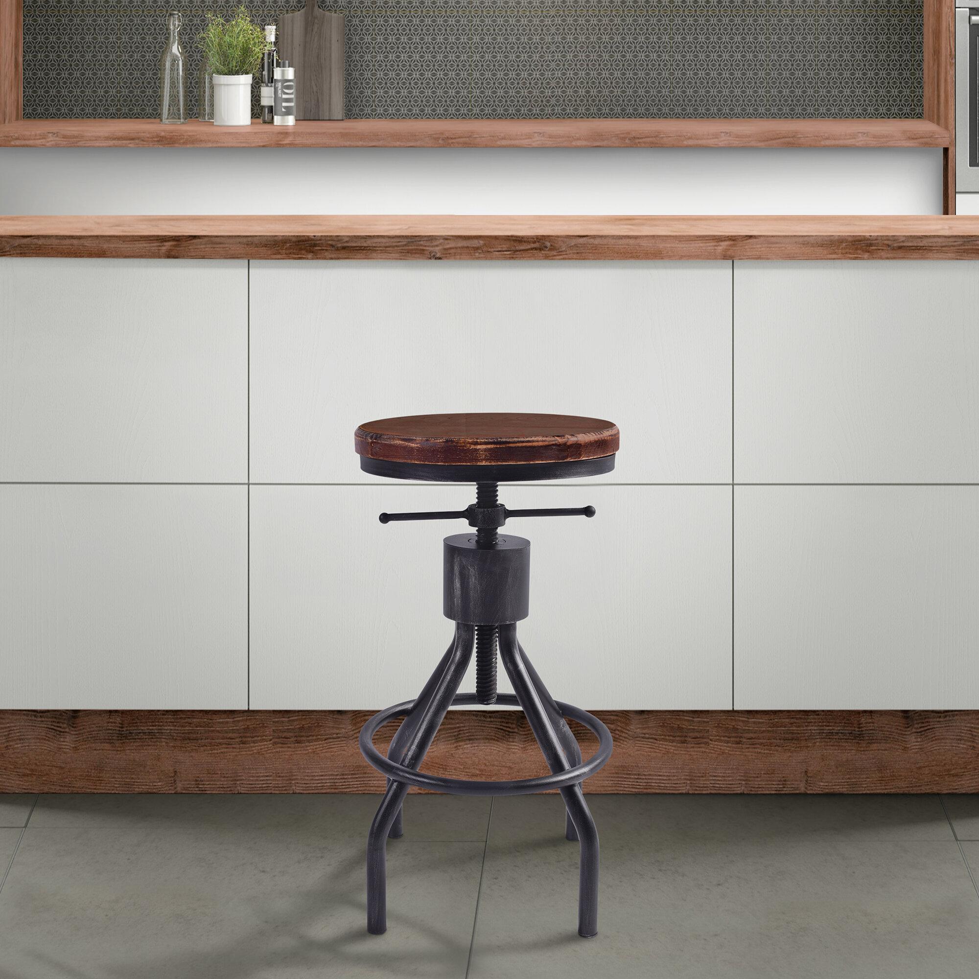 Strange 17 Stories Verdell Adjustable Height Swivel Bar Stool Alphanode Cool Chair Designs And Ideas Alphanodeonline