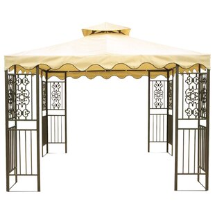 DC America 10 Ft. W x 10 Ft. D Steel Patio Gazebo