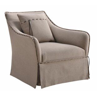 Jacques Swivel Wingback Chair by One Allium Way