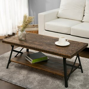 Yanyan Coffee Table with Magazine Rack by Gracie Oaks