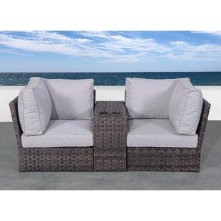 Cochran Loveseat with Cushions (Set of 3) by Rosecliff Heights