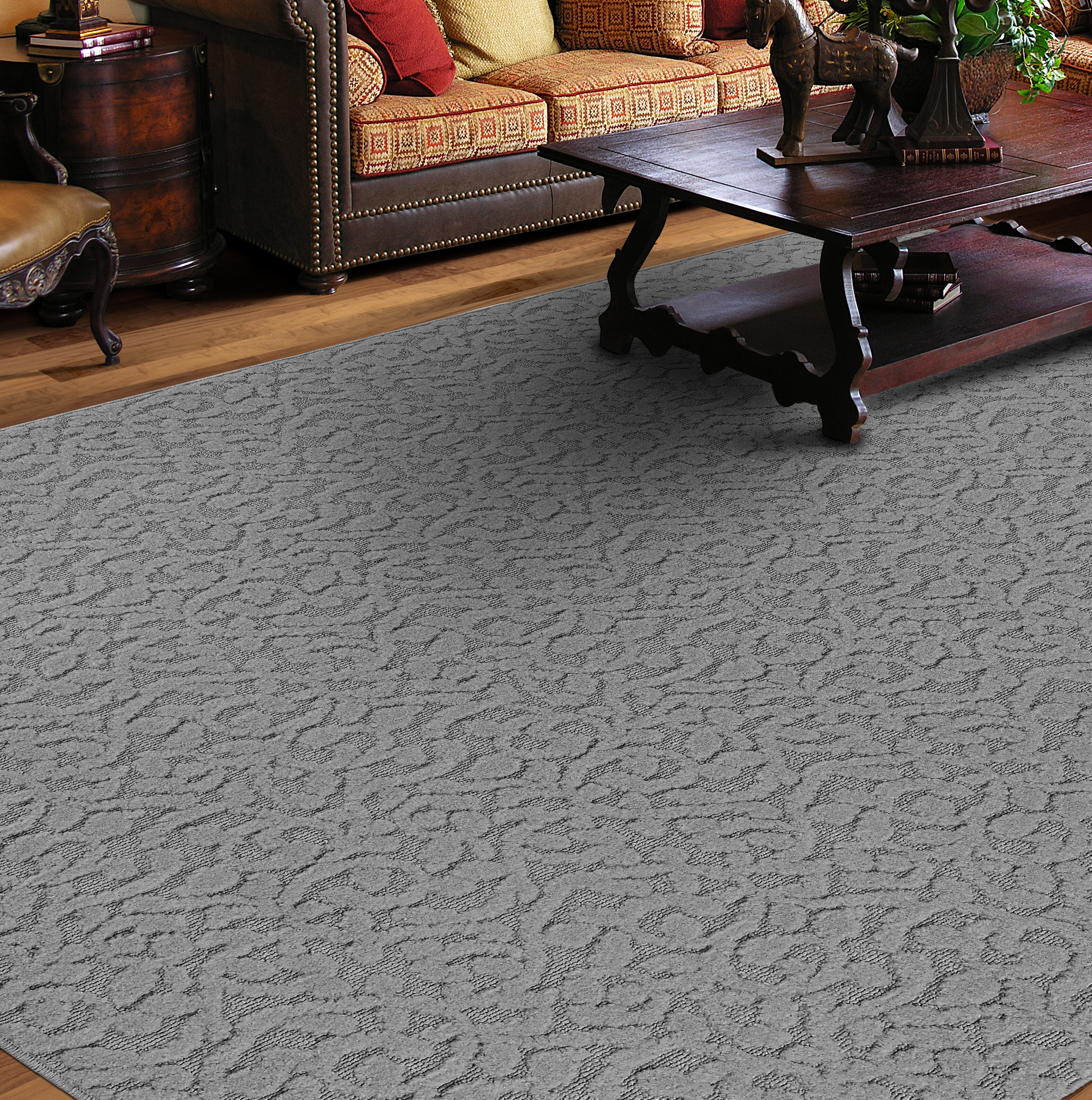 Winston Porter Edith Floral Tufted Gray Area Rug Reviews Wayfair