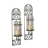 Isley Glass/Metal Sconce (Set of 2)