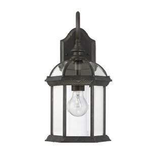 Buy luxury Mayhugh 1-Light Outdoor Wall lantern By Three Posts