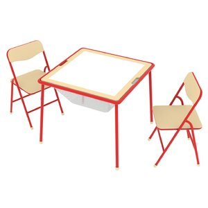Allinfun Kids' 3 Piece Square Table and Chair Set