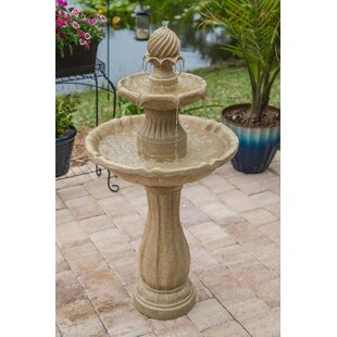 Wildon Home ® Resin Humboldt Outdoor Solar Floor Fountain