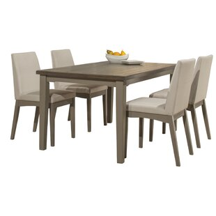 Kinsey 5 Piece Dining Set Rosecliff Heights