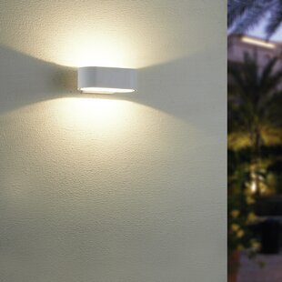 Fluvial LED Outdoor Sconce By Symple Stuff