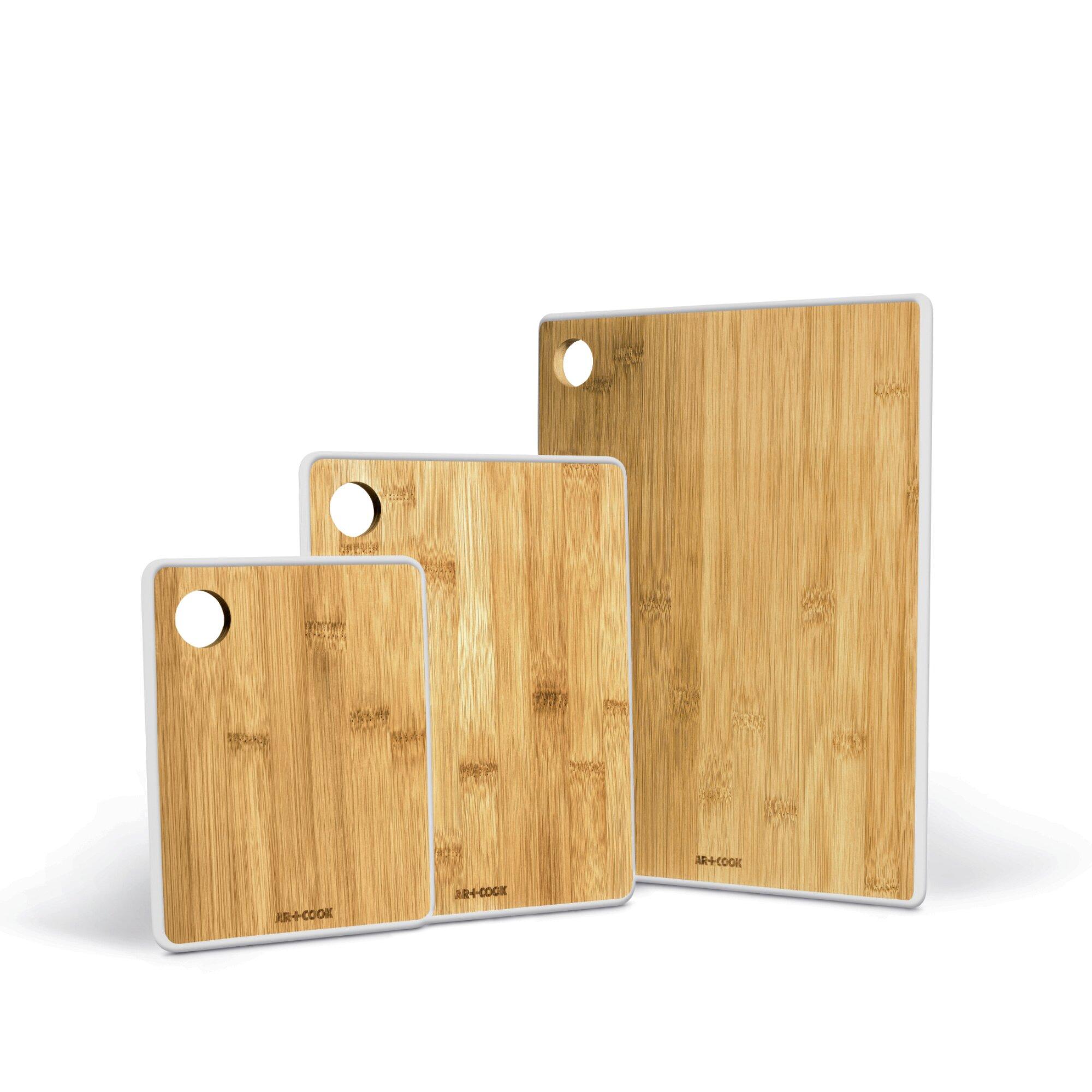 Art And Cook 3 Piece Bamboo Cutting Board Set Wayfair