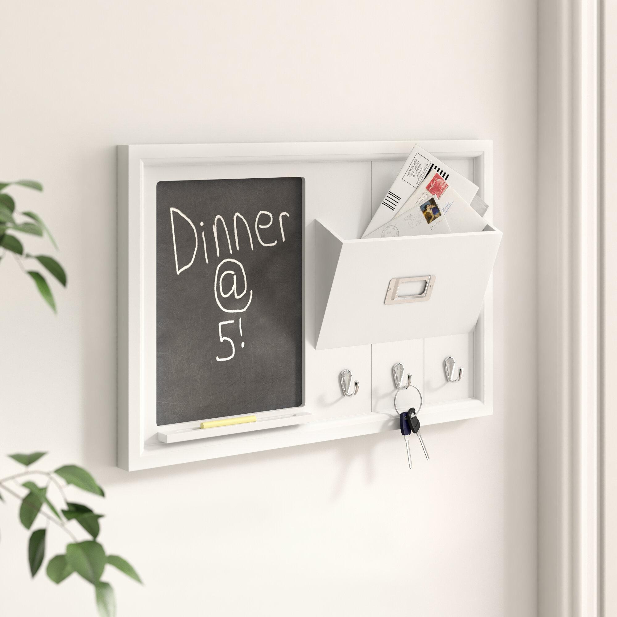 Zipcode Design Organization Wall Mounted Chalkboard Reviews Wayfair