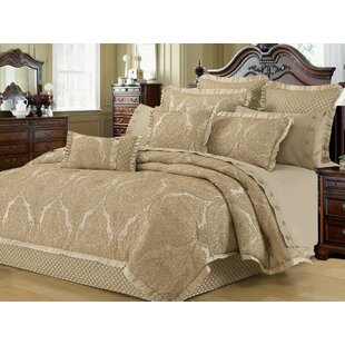 Astoria Grand Walbridge Lux Jacquard 3 Piece Duvet Cover Set