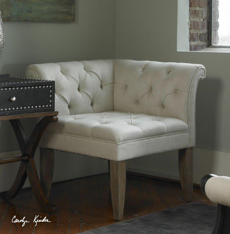 Uttermost Tahtesa Corner Chair & Reviews   Wayfair