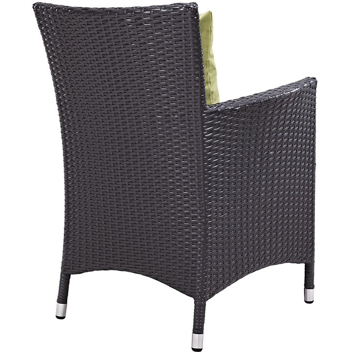 """Sol 72 Outdoor  Brentwood 11 Piece Dining Set with Cushion Table Size: 90.5"""" L x 63"""" W, Fabric Color: Peridot"""