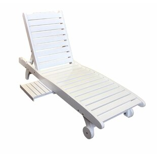 Finnerty Relaxing Wooden Reclining Chaise Lounge by Highland Dunes Best #1