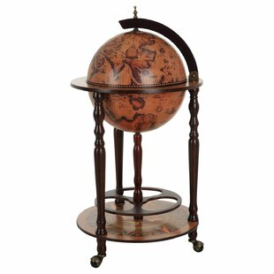 Waterman Retro World Map Bar And Serving Cart By World Menagerie